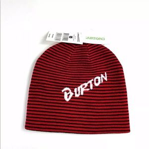 Burton Marquee Beanie Youth OS Black & Burner Red